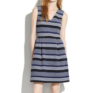 Madewell navy striped dress